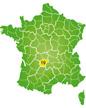 Locatie Corrèze in Frankrijk